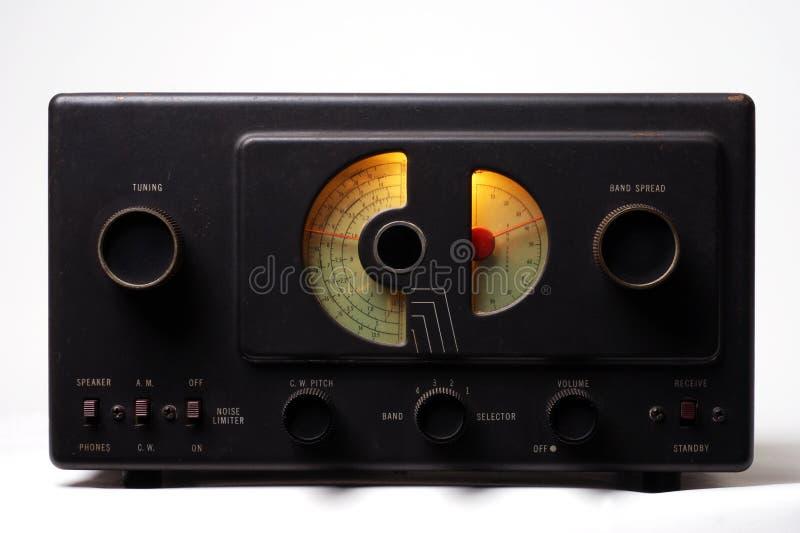 Rádio velho da onda curta foto de stock