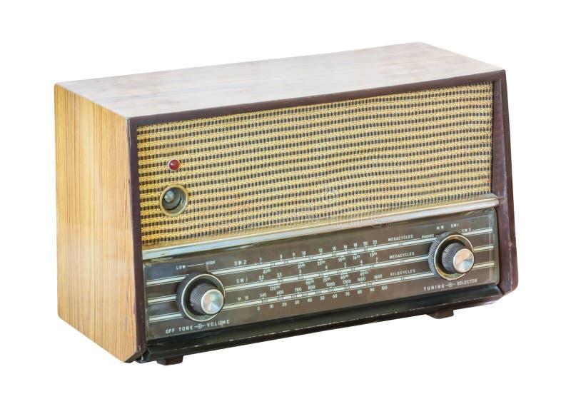 Rádio velho isolado fotografia de stock