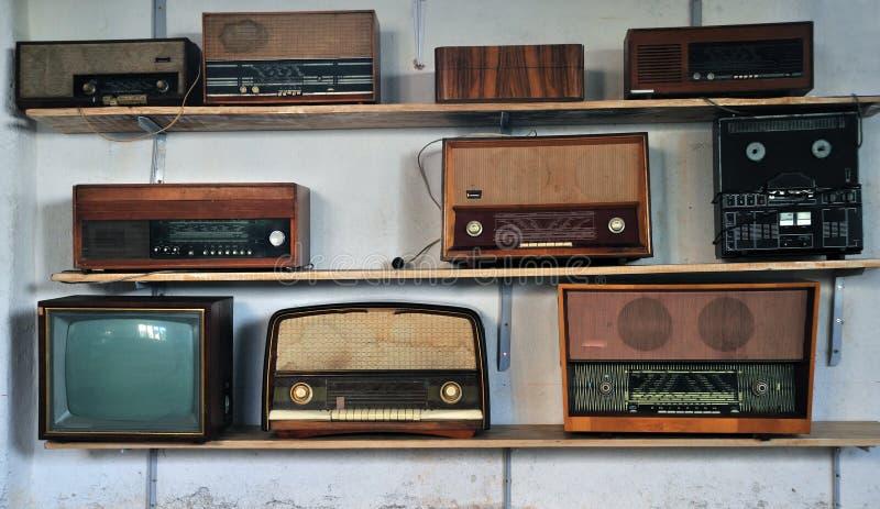Rádios do vintage imagem de stock royalty free