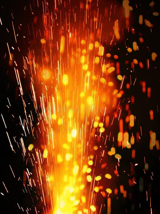 Ráfaga de Craker del fuego imagen de archivo libre de regalías