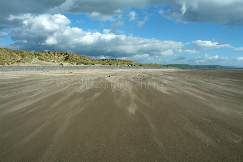 Ráfaga de la arena imagen de archivo