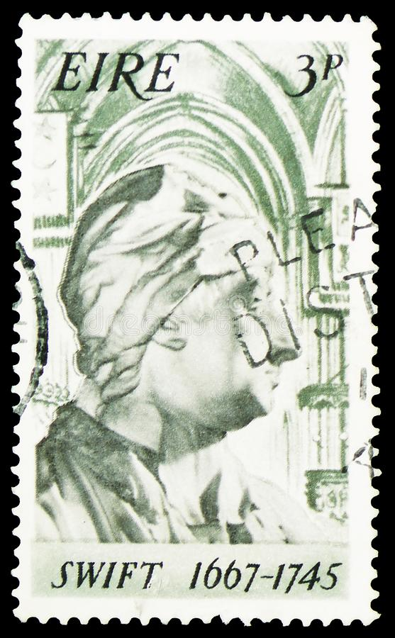 1667-1745 rápido, 30o aniversário do nascimento do serie de Jonathan Swift, cerca de 1967 foto de stock