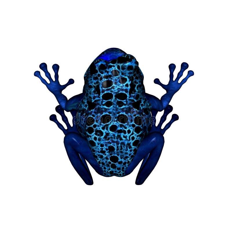 Râ azul do dardo do veneno ilustração stock
