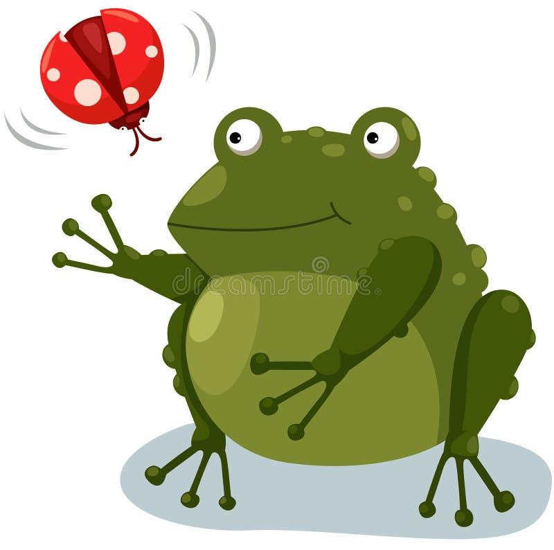 Râ com ladybug ilustração royalty free