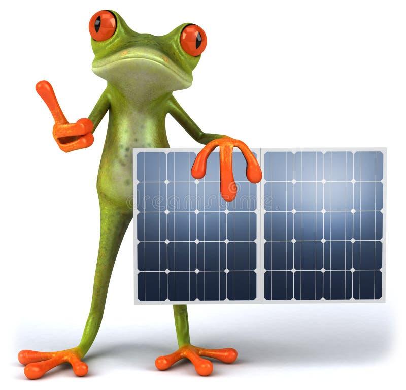 Download Râ com painéis solares ilustração stock. Ilustração de fundo - 16863728