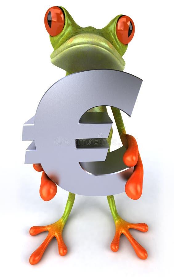 Râ com um euro ilustração do vetor