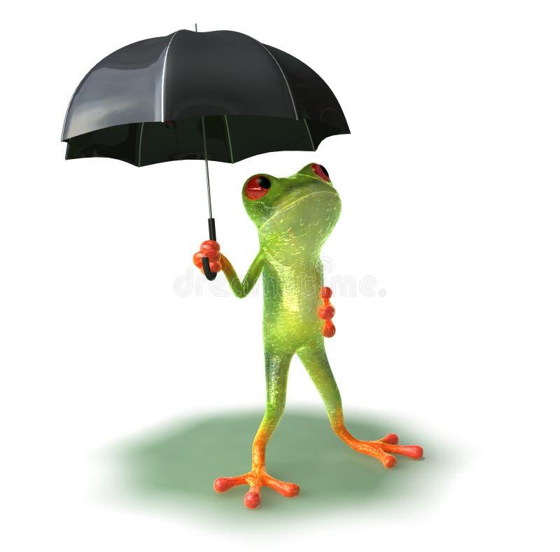 Râ receosa da chuva ilustração royalty free