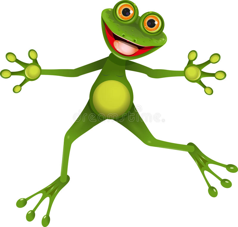 Râ verde feliz ilustração royalty free