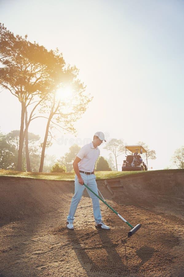 Râteau de buker de golf image libre de droits