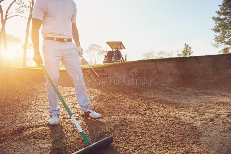 Râteau de buker de golf photo stock