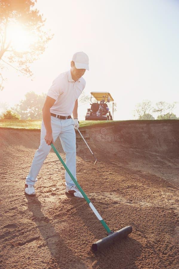 Râteau de buker de golf images stock