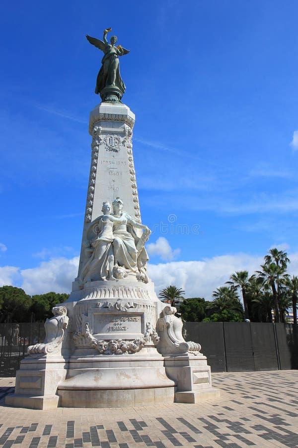 Réunion de Nice, Francia del la de Monument du Centenaire de fotografía de archivo libre de regalías