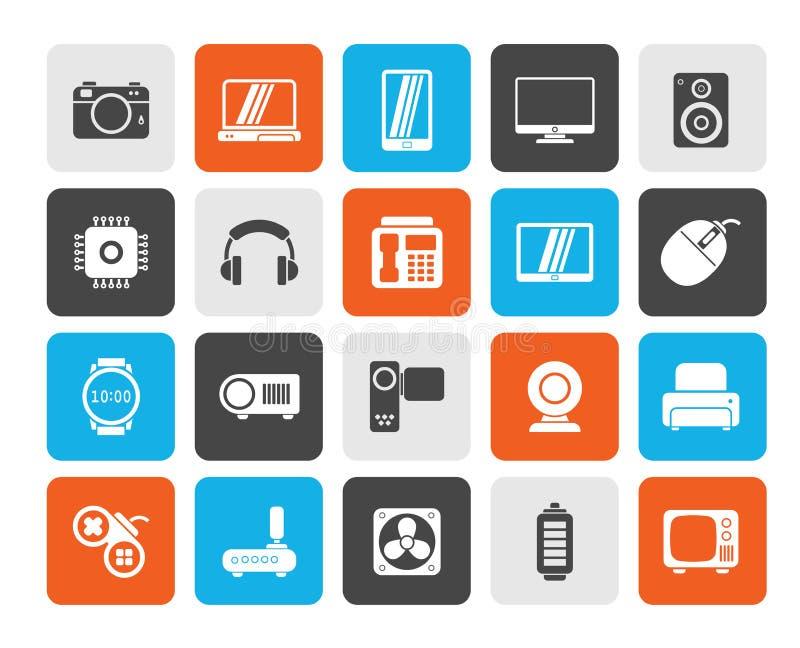 różni typ elektronika ikony royalty ilustracja