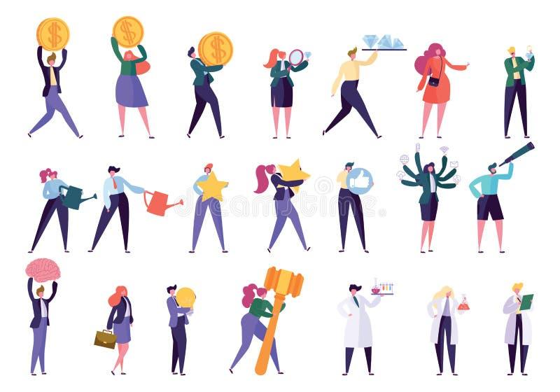 Różnorodni zawód kariery popierania setu ludzie royalty ilustracja