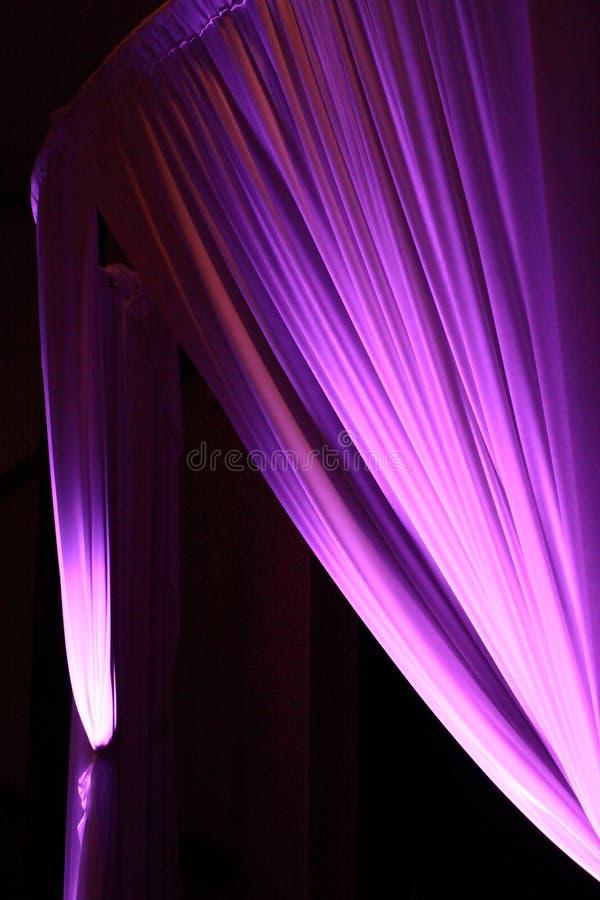 Różowe i purpurowe zasłony fotografia royalty free