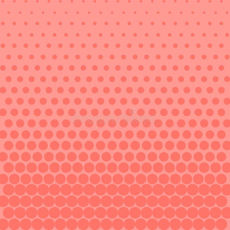 Różowy halftone gradient kropkuje tło również zwrócić corel ilustracji wektora ilustracja wektor