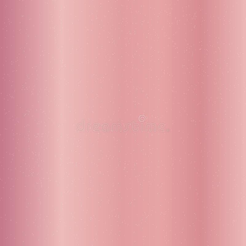 Różowy Złocisty gradientowy tło i srebna błyskotliwości tekstura Błyskotania okamgnienie, świąteczny luksusu styl ilustracja wektor
