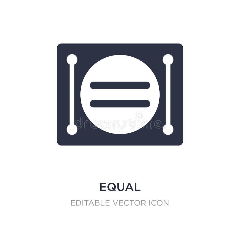 równa ikona na białym tle Prosta element ilustracja od znaka pojęcia ilustracji