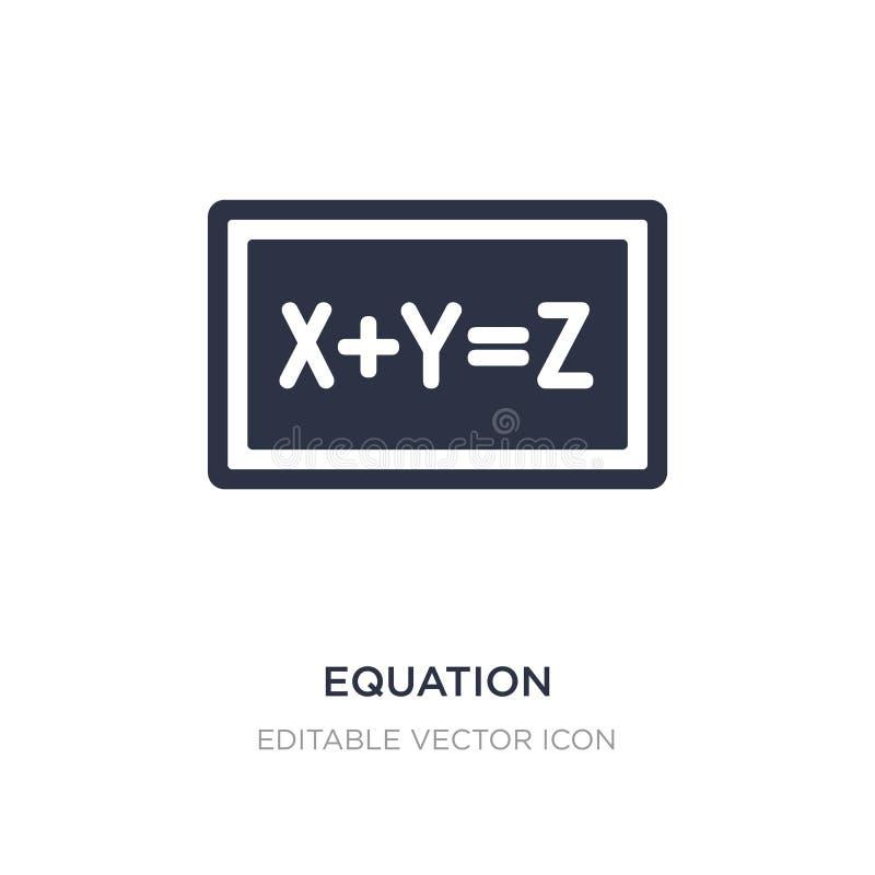 równanie ikona na białym tle Prosta element ilustracja od edukacji pojęcia royalty ilustracja