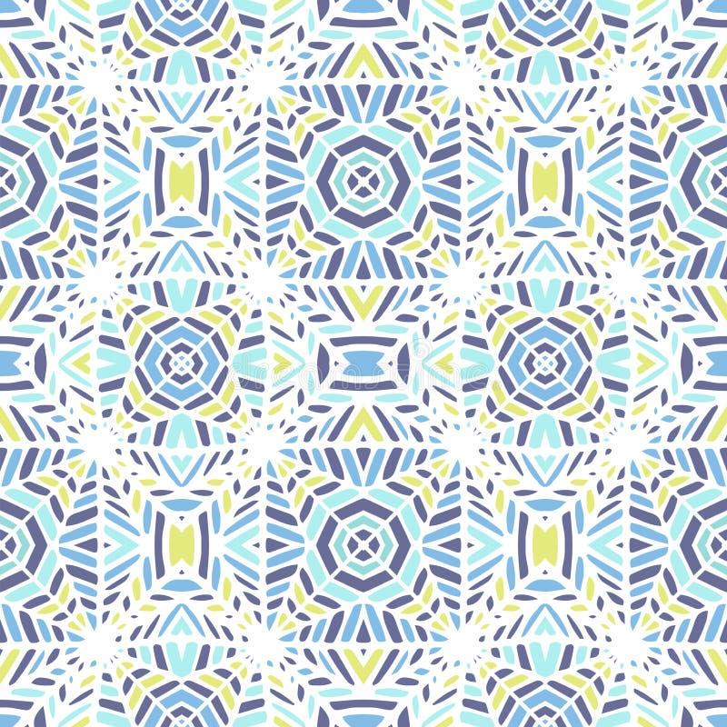 również zwrócić corel ilustracji wektora afrykanina bezszwowy deseniowy Etniczny dywan z szewronami i trójbokami royalty ilustracja