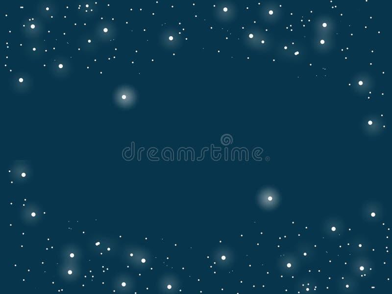 Równoległy wszechświat, gwiaździsty, zmrok - błękitny tło royalty ilustracja