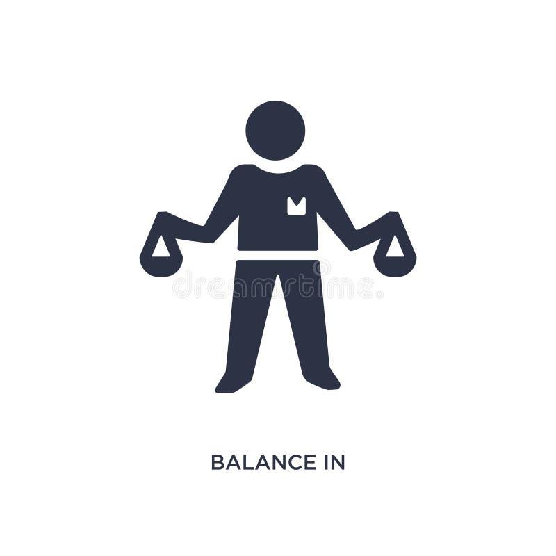 równowaga w dział zasobów ludzkich ikonie na białym tle Prosta element ilustracja od dział zasobów ludzkich pojęcia royalty ilustracja