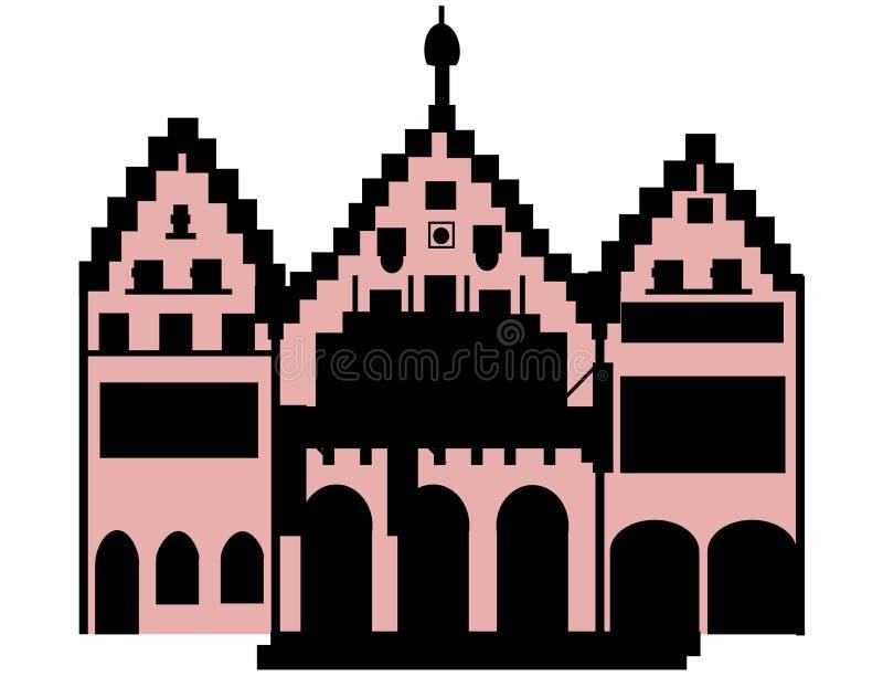 Römer Francfort Alemania principal Europa ilustración del vector