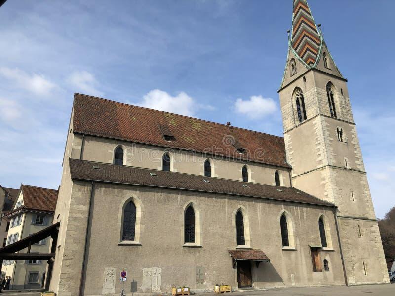 Römisch Katholische Stadtpfarrkirche Maria Himmelfahrt, Stad van Baden royalty-vrije stock fotografie