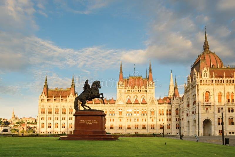 RÃ-¡ kà ³ czi Ferenc-Reitermonument in Budapest lizenzfreie stockfotos