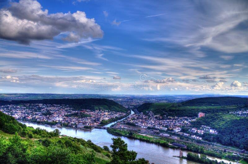RÃ ¼ desheim Rhine zdjęcie royalty free