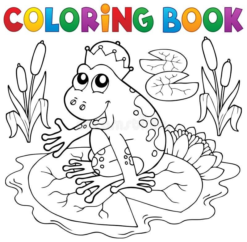 Rã do conto de fadas do livro para colorir ilustração royalty free