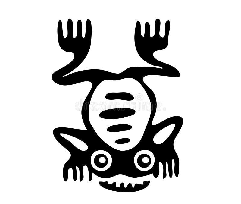 Rã no estilo do Maya ilustração stock