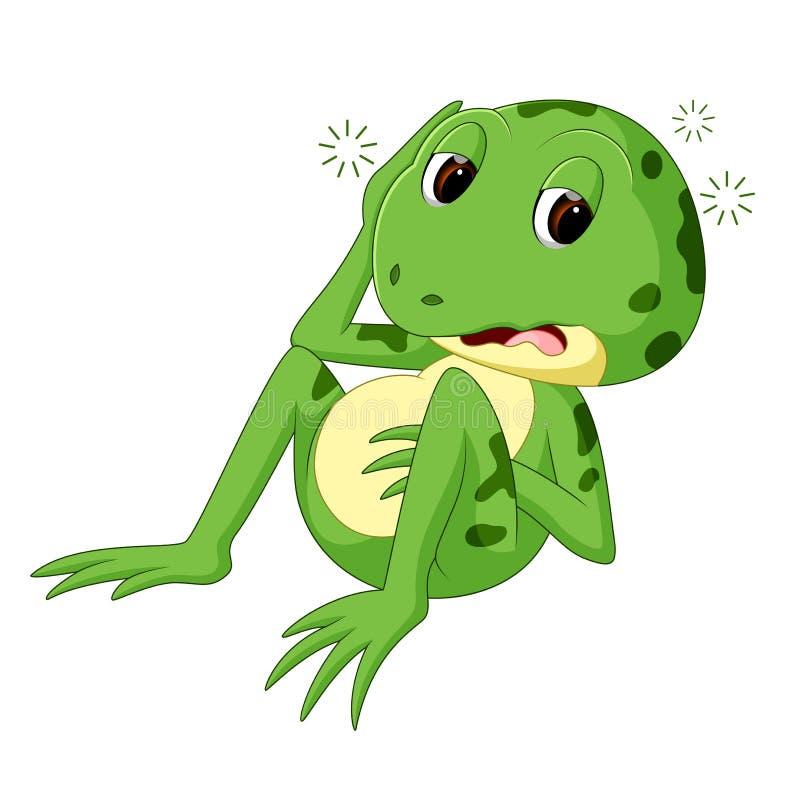 Rã verde com sorriso feliz ilustração royalty free