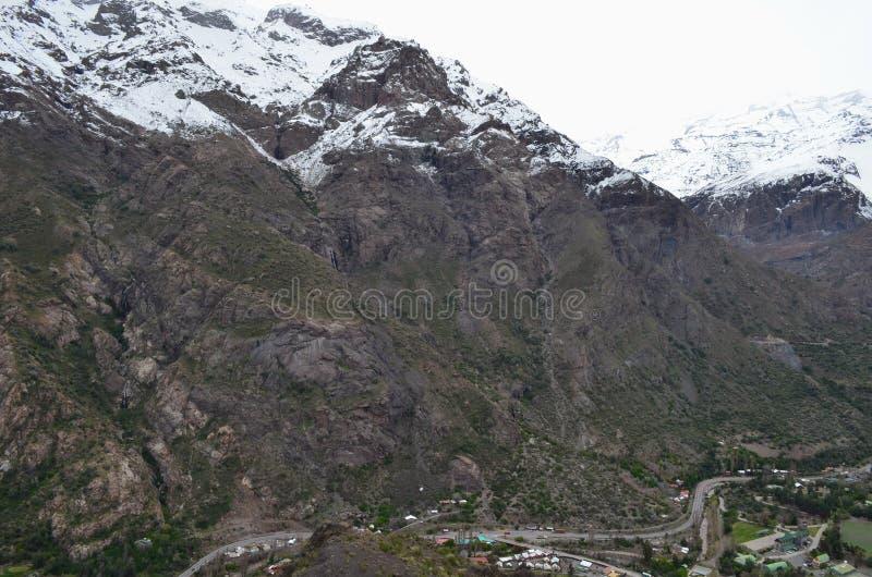 RÃo Blanco Krajowa rezerwa, środkowy Chile, wysoka różnorodności biologicznej dolina w Los Andes obraz royalty free