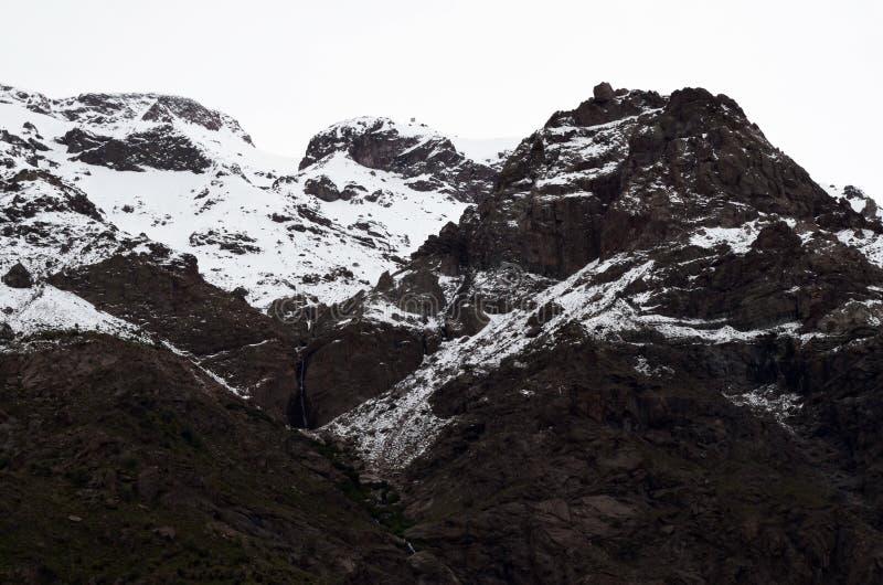 RÃo Blanco Krajowa rezerwa, środkowy Chile, wysoka różnorodności biologicznej dolina w Los Andes fotografia stock