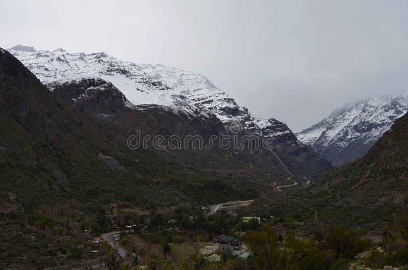 RÃo Blanco Krajowa rezerwa, środkowy Chile, wysoka różnorodności biologicznej dolina w Los Andes fotografia royalty free