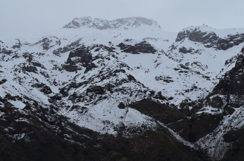 RÃo Blanco Krajowa rezerwa, środkowy Chile, wysoka różnorodności biologicznej dolina w Los Andes obrazy stock