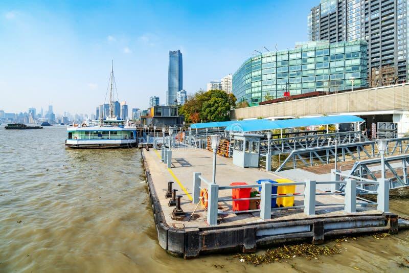 RÃo Huangpu De Changhaï de del de ferry de terminal photographie stock