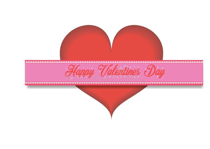 ręcznie pisany literowanie projekta tekst na koloru tle Walentynka dnia kartki z pozdrowieniami projekta wektoru illustratio ilustracja wektor