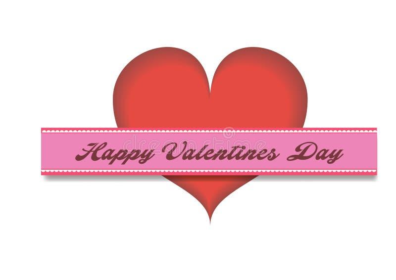 ręcznie pisany literowanie projekta tekst na koloru tle Walentynka dnia kartki z pozdrowieniami projekta wektoru illustratio royalty ilustracja