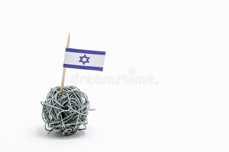 Ręcznie robiony flaga Izrael zdjęcie stock