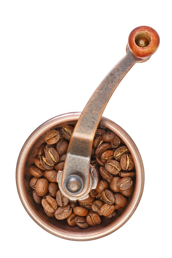 Ręczny kawowego ostrzarza lub burr młyn zdjęcia royalty free