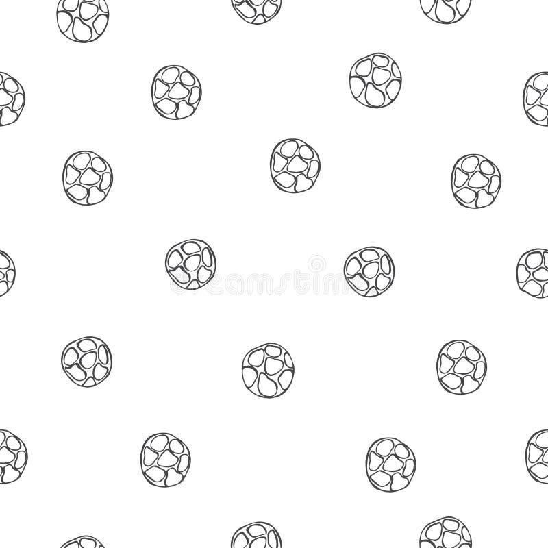 Ręka rysująca czarnego pieprzu pikantność kolorowych deseniowych planowanymi różnych możliwych wektora ilustracji