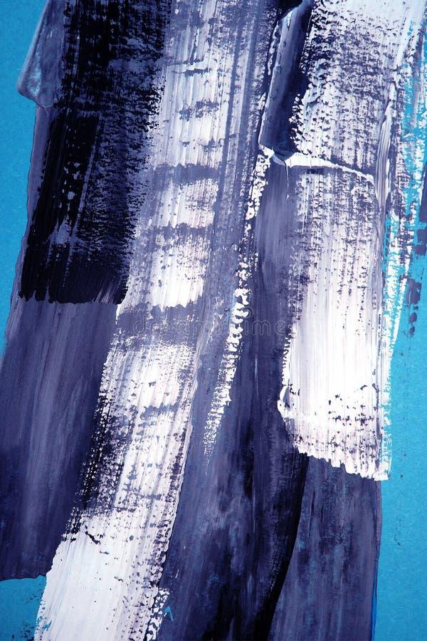 Ręka rysujący akrylowy obraz sztuki abstrakcjonistycznej tło Akrylowy obraz na kanwie Kolor tekstura Czerep grafika brushstrokes royalty ilustracja