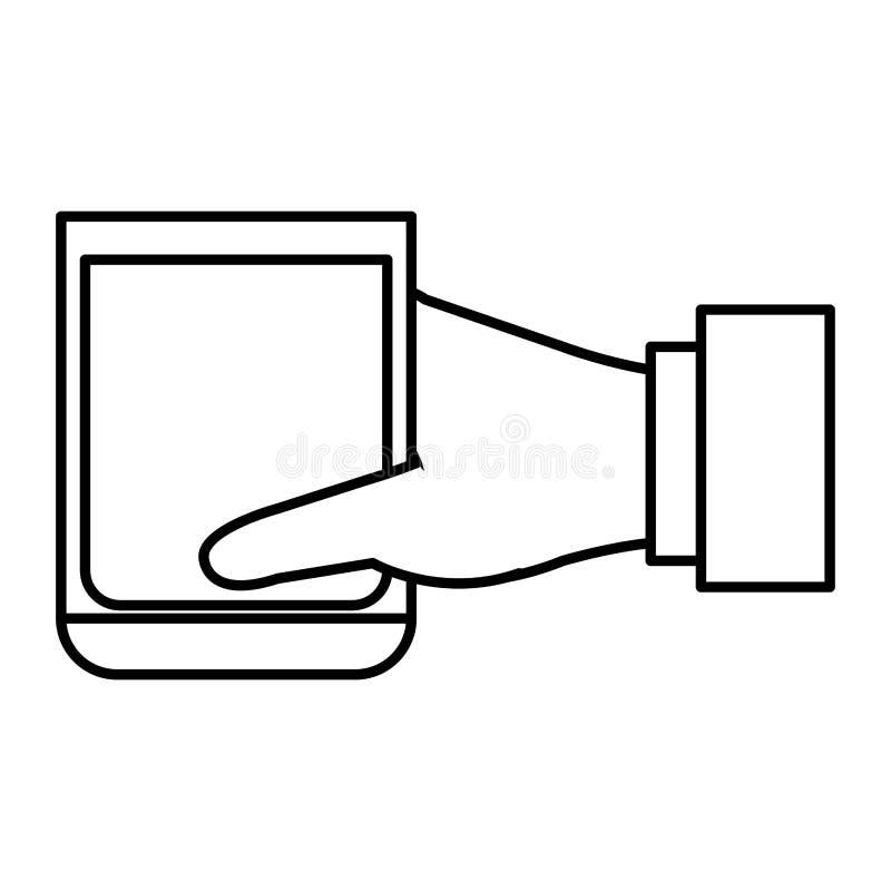 Ręka z whisky szklanym napojem ilustracji