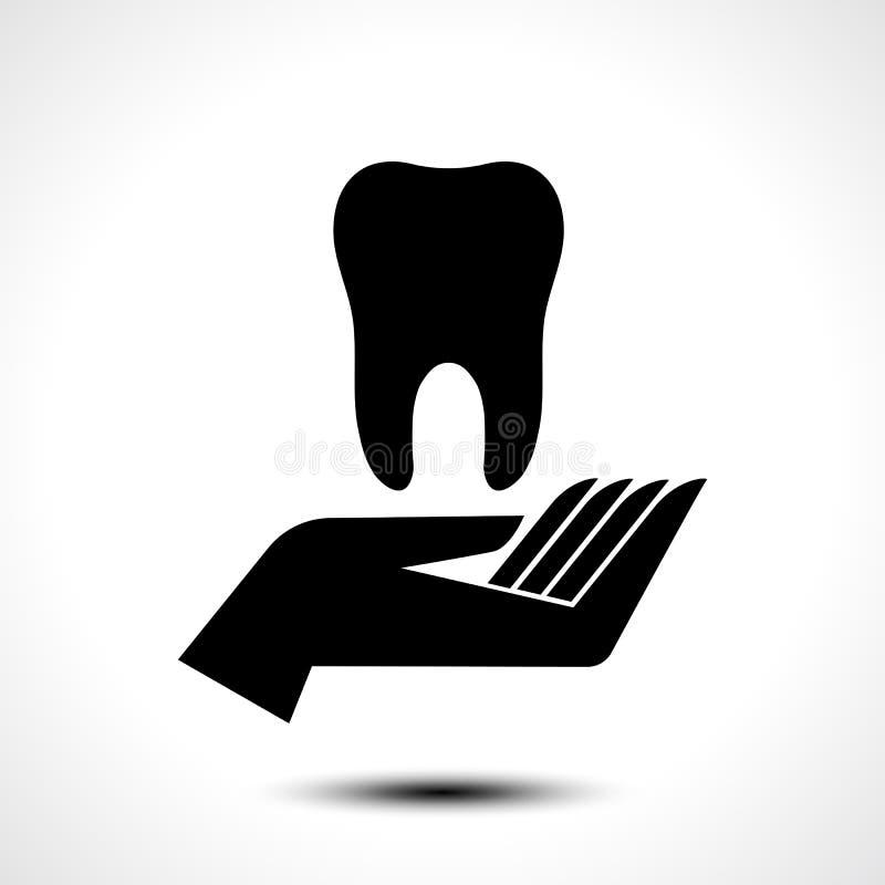 Räcka att rymma för tand ett tand- och för hälsovårdvektor symbol för symbol, royaltyfri illustrationer