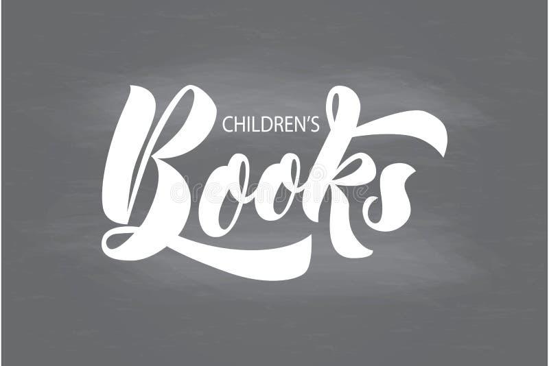 Räcka bokstäver av uttrycksbarns böcker på kritabräde arkivfoton