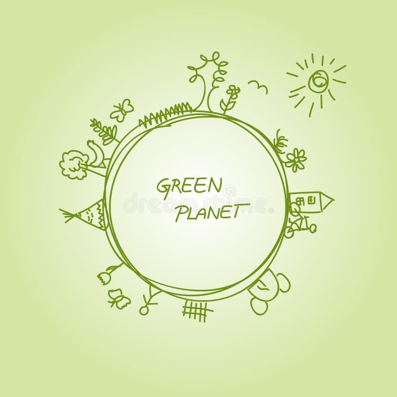 Grönt planet arkivbilder