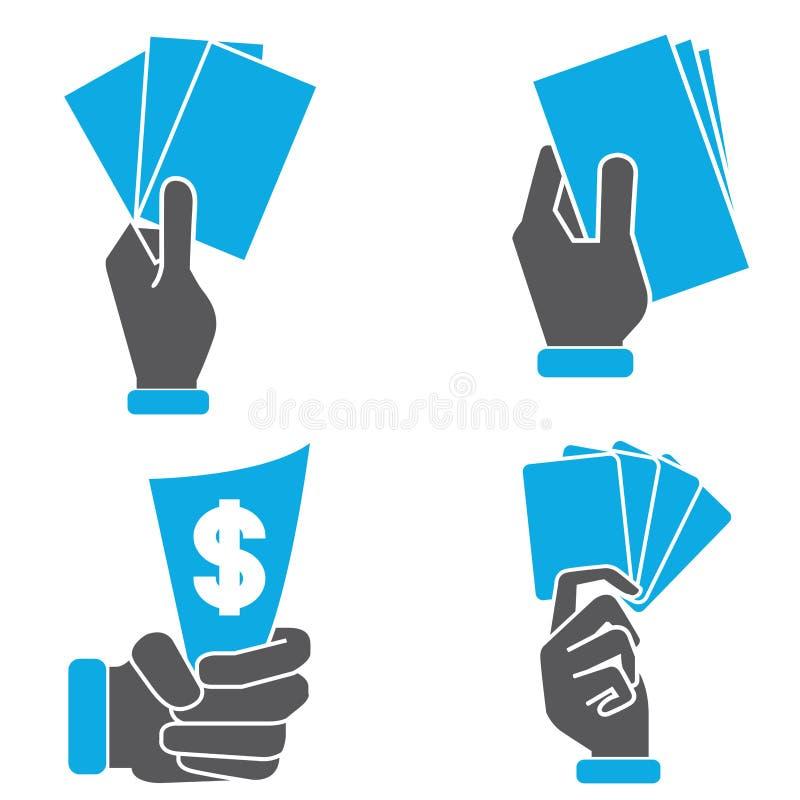 Räcka det hållande kortet royaltyfri illustrationer