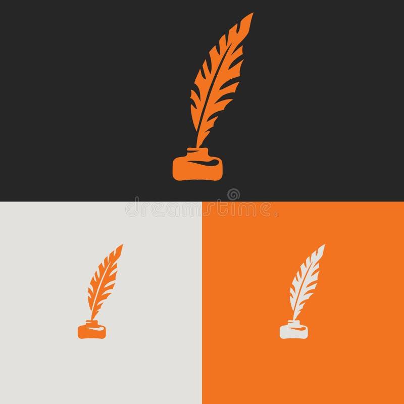 Räcka det utdragna vektorsymboltecknet, plan symbol arkivbild